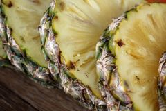 Slice of fresh pineapple Stock Image