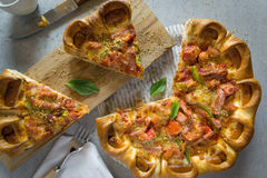 Slice of fresh Pizza Royalty Free Stock Image