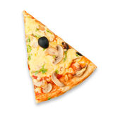 Slice of fresh pizza Stock Photography