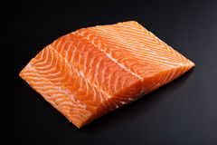Slice of fresh salmon Royalty Free Stock Photography