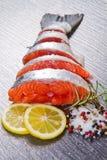 Slice of fresh salmon Stock Photo