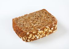 Slice of sunflower bread Stock Photography