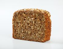 Slice of sunflower bread Stock Image
