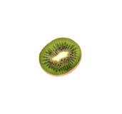 Slice of fresh sweet kiwi fruit isolated on white background. Slice of fresh kiwi fruit isolated on white background stock photo
