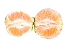 Slice of fresh tangerine Stock Photo