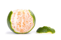 Slice of fresh tangerine Stock Photos