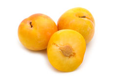 Slice fresh yellow plum Royalty Free Stock Photography
