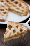 Slice of freshly baked apple pie Stock Images