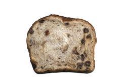 Slice of freshly baked cinnamon raisin bread. Delicious slice of fresh cinnamon raisin bread Stock Photo