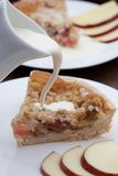 Slice of freshly baked rhubarb crumble Royalty Free Stock Image