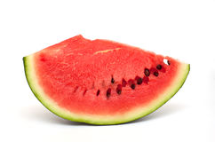 Slice of freshly cut watermelon Royalty Free Stock Image