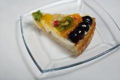 Slice of fruit cake Royalty Free Stock Images