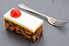 Slice of fruit Christmas cake Royalty Free Stock Photography