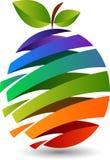 Slice fruit logo. Illustration art of a slice fruit logo with isolated background Stock Images