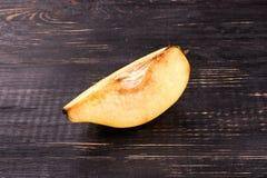 Slice fruit quince Stock Photo