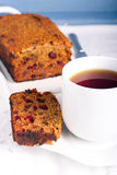 Slice of fruit and rum cake Royalty Free Stock Image