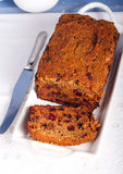 Slice of fruit and rum cake Royalty Free Stock Photo