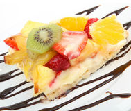 Slice of fruit tart Stock Photography