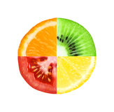 Slice of fruit and vegetable Stock Photo