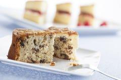 Slice of Fruitcake Stock Photos