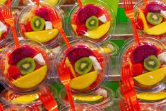 Slice fruits Stock Images