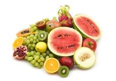 Slice fruits royalty free stock photos