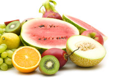 Slice fruits Stock Photos