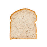 Slice of germinated brown rice bread isolated on white. Background Royalty Free Stock Photography