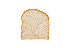 Slice of germinated brown rice bread isolated on white. Background Stock Photography