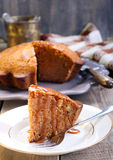 Slice of ginger cake Royalty Free Stock Photography