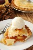 Slice of golden apple pie Royalty Free Stock Photo