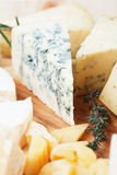 Slice of gorgonzola cheese Royalty Free Stock Images
