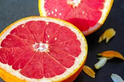 Slice Grapefruit Stock Photo