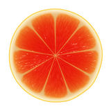 Slice of grapefruit Stock Photography