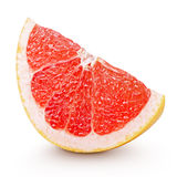 Slice of grapefruit citrus fruit isolated on white Stock Image