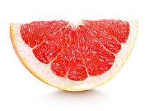 Slice of grapefruit citrus fruit isolated on white Stock Photo