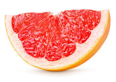 Slice of grapefruit citrus fruit isolated on white Royalty Free Stock Photos