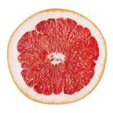 Slice of grapefruit isolated on white background Stock Image