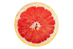 Slice grapefruit royalty free stock photography