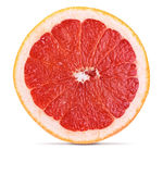 Slice of grapefruit royalty free stock photography