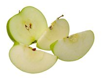 Slice green apple Royalty Free Stock Photos