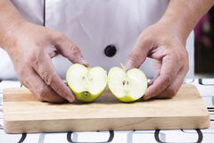 Slice of green apple Stock Photography