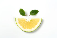 Slice of green grapefruit Royalty Free Stock Photography