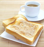 Slice of grilled bread Stock Photography