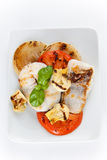 Slice of hake grilled Royalty Free Stock Image