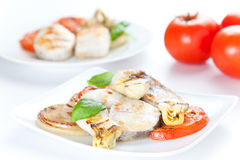 Slice of hake grilled Royalty Free Stock Photography