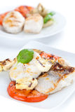 Slice of hake grilled Royalty Free Stock Photo