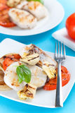 Slice of hake grilled Stock Images