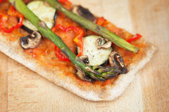 Slice of home made healthy pizza Royalty Free Stock Photography