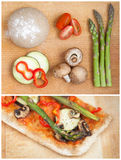 Slice of home made healthy pizza royalty free stock image